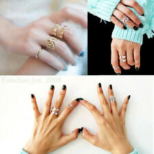 3pcs/Set Midi Finger Ring Silver Gold Stack Above Knuckle Band Cute Gift Rings