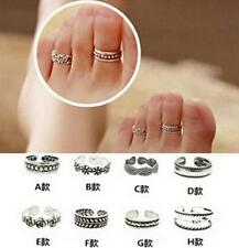 HO CA New Celebrity Simple Retro Flower Design Adjustable Toe Ring Foot Jewelry