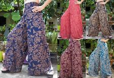 Vintage Wide Leg Palazzo Yoga Dance Bohemian Gypsy Hippie Boho Pants Trousers