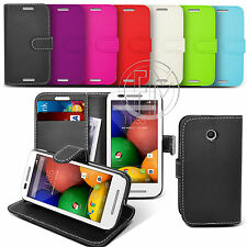 BOOK WALLET LEATHER CASE COVER POUCH FOR MOTOROLA MOBILE PHONES