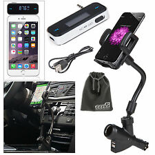 EEEKit Wireless FM Transmitter+Car Charger Mount Phone Holder for iPhone Samsung