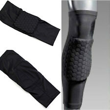 Basketball Knee Protector Gear Leg Long Sleeve Crashproof Antislip Honeycomb Pad