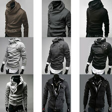Mens New Long Sleeve Casual Pullover Hoodie Hooded Sweatshirt Coat Size M-XXXL