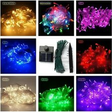 Solar Powered 100/200/300/400/500 LED String Fairy Lights Xmas Deco Waterproof