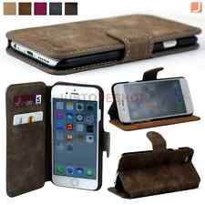 Flip Retro Leather Case Stand Cover For iPhone 6/6 Plus Free Screen Protector