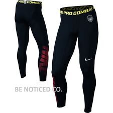 NWT Nike Pro Combat Vapor Compression Men's Tights Black Red Volt S M L XL 2XL