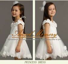 IVORY FLOWER GIRL DRESS PAGEANT WEDDING BRIDESMAID DANCE PARTY PRINCESS in stock