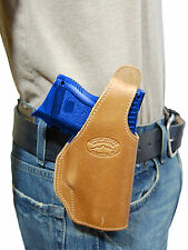 New Barsony Tan Leather OWB Holster for Walther Compact, Sub-Compact 9mm 40 45
