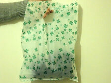 large plastic gift bags retail carrier bags shop green leaf wholesale 30x40cm