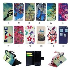 PU Leather Wallet Stand Flip Case Cover For Samsung iPhone 5 5S 5C 4S i9190 G2