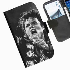Michael Jackson Leather wallet mobile phone Skin case Personalised I Phone