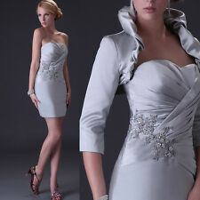 CHEAP! 2015 Satin Mother of the Bride Dress Formal Occasion Outfit + jacket free