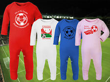 MIDDLESBROUGH Football Baby Romper Suit Sleep Personalised Cute Gift - Any team