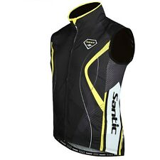 Santic Men's Sleeveless Cycling Riding Jacket Outdoor Bike Bicycle Jersey S-3XL