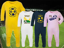 OXFORD UNITED Football Baby Romper Suit Sleep Personalised Gift- Any team/colour