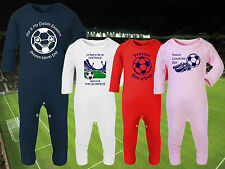 PRESTON NORTH END Football Baby Romper Suit Sleep Personalised Gift - Any team