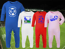 RANGERS Football Baby Romper Suit Sleep Personalised Cute Gift - Any team/colour