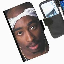 Tupac 2pac Leather wallet personalised phone case for Samsung Galaxy Note II III
