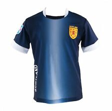 Great Gift: Kids Scotland Football Jersey Top Navy White Sizes 0 to 12 years!