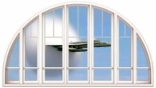 Huge 3D Arched Window Sonic Boom Aeroplane View Wall Stickers Mural Art Decal