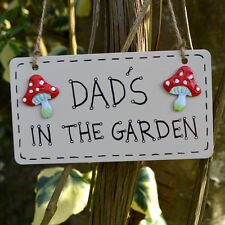 Dads In The Garden Shed Greenhouse Plaque Sign Gardener Gardening Gift Present