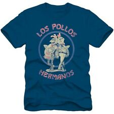 Breaking Bad Los Pollos Hermanos Logo Licensed Adult T-Shirt - Blue
