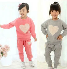 Sweet Kids Toddler Clothes Girls Baby Sportswear Tops+Trousers Suit Sz12M-5Y