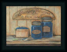 Blueberry Preserves For Sale Country Kitchen Framed Art Print Wall Décor Picture