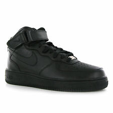 Nike Air Force 1 Mid 07 Black Leather Men Trainers