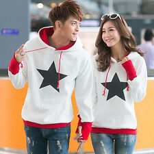 New Couples Hoodie Sweater Lovers Pullover Jumper Tops Thicker Coat Women Men