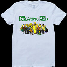 Breaking Bad As Simpsons Men's White, Custom Made T-Shirt