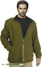 IDF Fleece Double-Sided Jacket Coat Cold Weather Winter Gear Clothes Green/Black