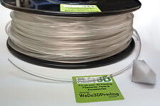 PET Transparent 3D Printer Filament - Glass Clear in 1.75mm & 3mm - PETG PETE