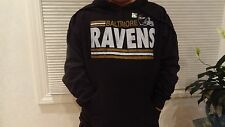 NWOT NFL Men's Baltimore Raven's Pullover Black Hoodie - Sizes M-2XL