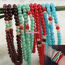 HANDMADE BEAD WRAP BRACELET MULTILAYER BOHO CHIC LOVER GIFT HANDCRAFTED JEWELRY