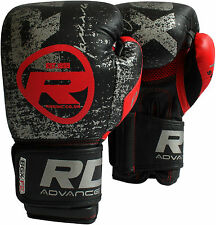 RDX Ultimate Leather Boxing Gloves Fight Punch Bag Muay thai Grappling Pad MMA A