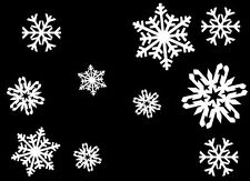 SNOWFLAKES - Vinyl Wall Art Decals Room Christmas Decoration Kitchen Window