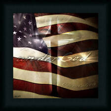 Under God by Jason Patriotic American Flag Framed Art Print Wall Décor Picture