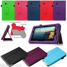 Book Folio Leather Case Cover For Verizon Ellipsis 7 4G LTE Tablet Stand