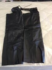MENS CHAPS-GENUINE LEATHER WITH REMOVABLE LINER 7 SIZES! Cut To Length!