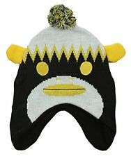 NFL Youth Boy's Pittsburgh Steelers Pom Pom Sock Monkey Knit Hat Beanie