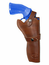 "NEW Barsony Brown Leather Western Style Gun Holster for Taurus 6"" Revolvers"