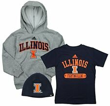NCAA Youth Boys University of Illinois Fighting Illini 3 Piece Tee Hoodie Set