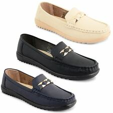 Ladies Womens Loafers Smart Walking Driving Deck Moccasins Boat Shoes Pumps Size