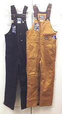 Walls Insulated Bib Overalls Coverall Black & Brown (M-2XL) Short, Regular, Tall