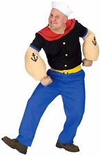 Adult Popeye Funny Halloween Costume Fancy Dress Up Party
