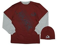 Reebok NHLYouth Boy's Colorado Avalanche 2-piece Layered Long Tee and Beanie