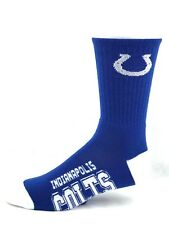Indianapolis Colts Men's Deuce Crew Socks Blue with White Heel & Toe New
