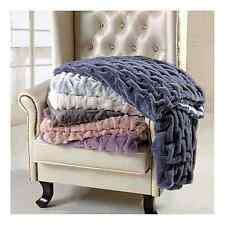 "Ruched Throw  Blanket  - 60"" x 70"""