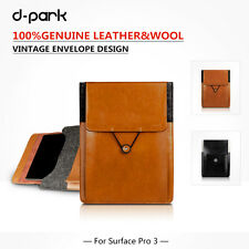 """dpark Genuine Leather Notebook Bag Sleeve Pouch For Surface Pro 3 12"""" Tablet"""